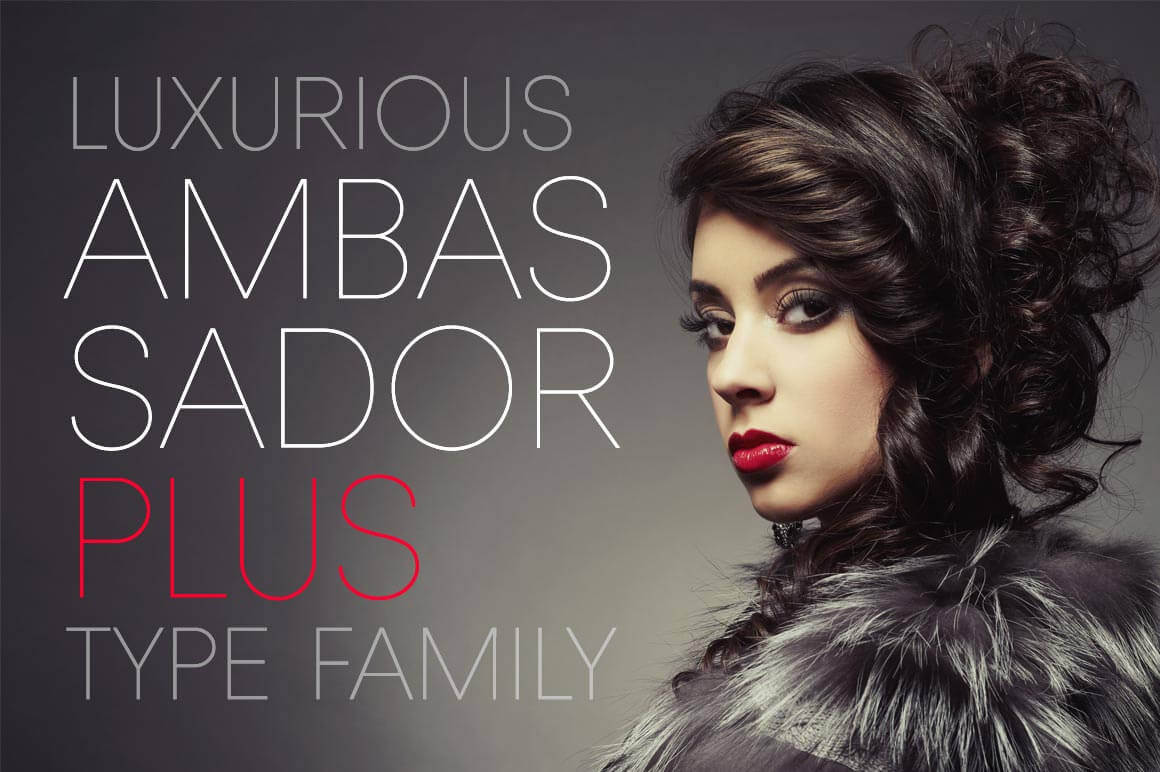Luxurious Ambassador Plus Font Family - only $19!