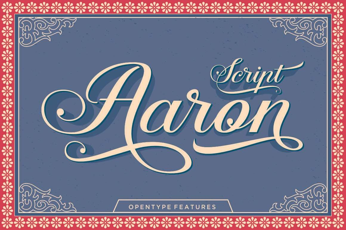 Classy, Elegant Aaron Script Font - only $9!