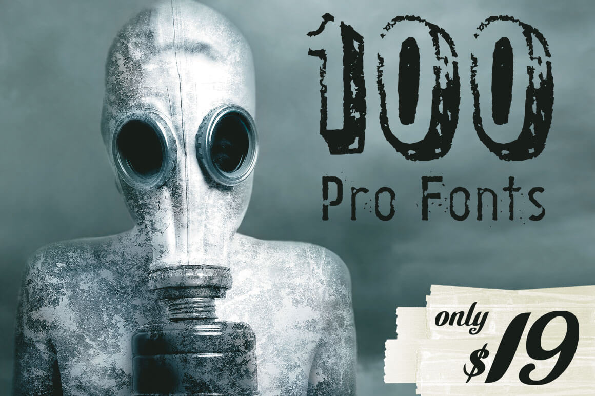 LAST DAY: 100 Professional Fonts from Ingimage - only $19!