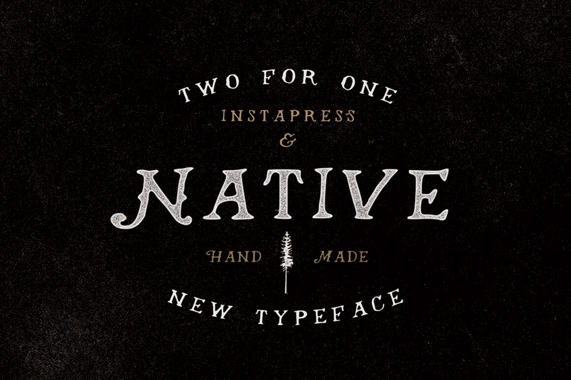 Native Font + Instapress Photoshop Action
