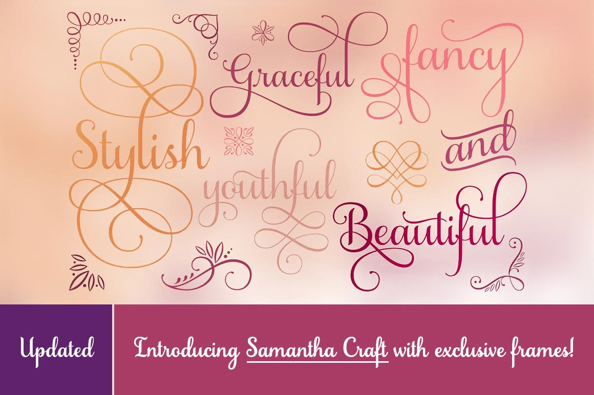 Beautiful Samantha Script Font - only $17!
