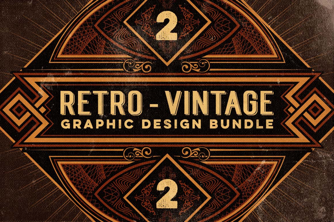 Bundle 500 retro vintage design elements mightydeals for Retro images