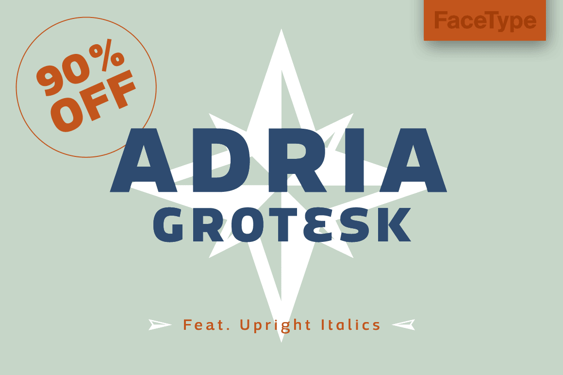 Sunny Humanist Adria Grotesk Font with 7 Weights - only $18!