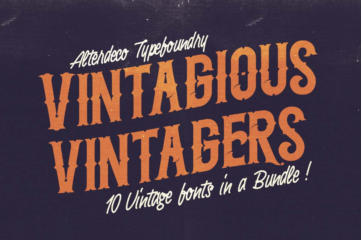 10 Fantastic High Quality Old Fashioned Vintage Fonts - only $17!