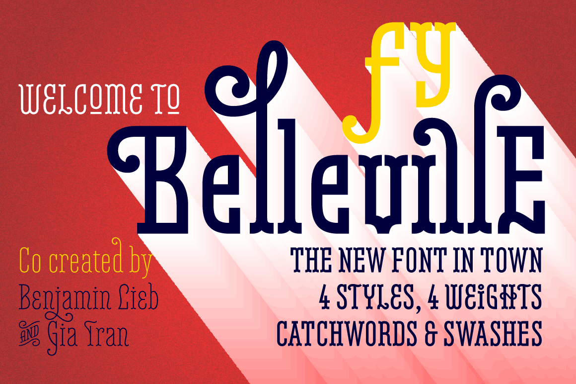 Belleville Font Family of 16 Typefaces - only $17!
