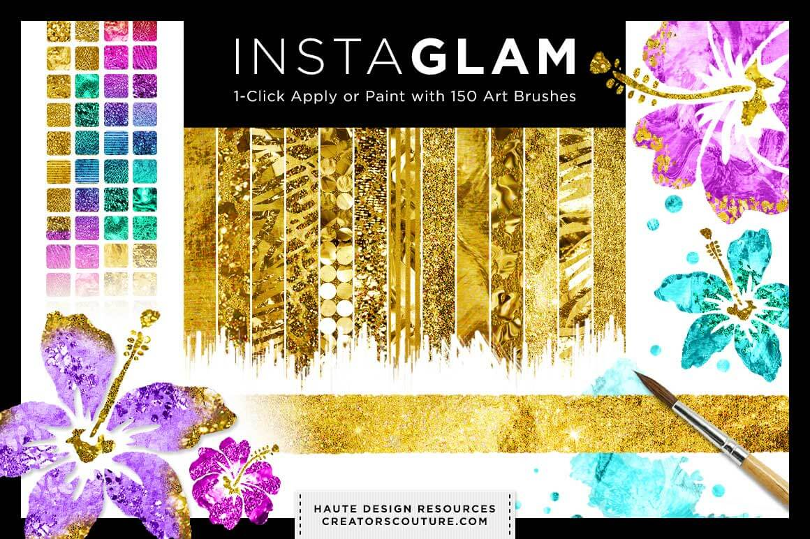 InstaGlam: Add Gold and Glam to your designs - only $17!