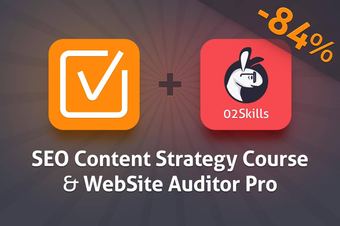 SEO Bundle: Content Strategy Course + Website Auditor Pro - 84% off!
