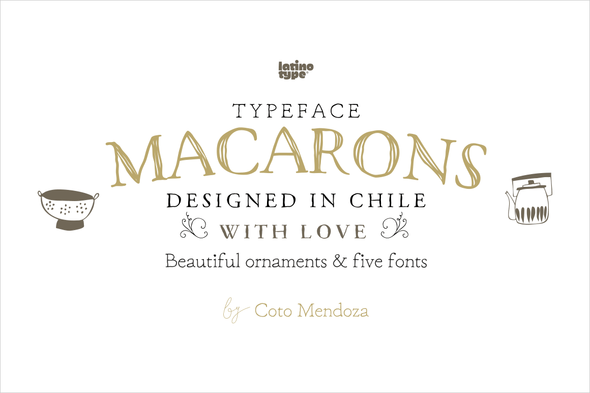 7 Delicious Handmade Fonts from the Macarons Font Family - only $14!