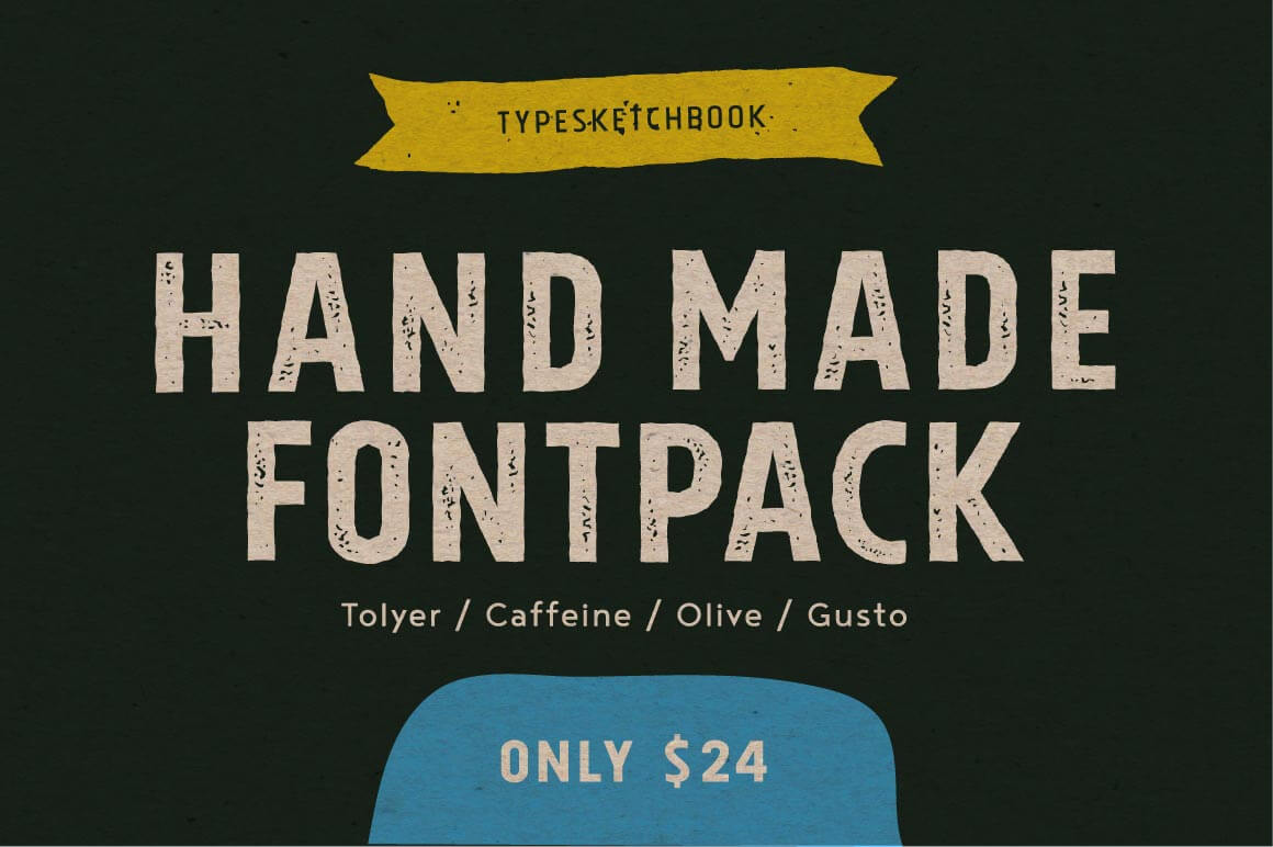 4 Hand-Drawn Fonts from Typesketchbook - only $24!