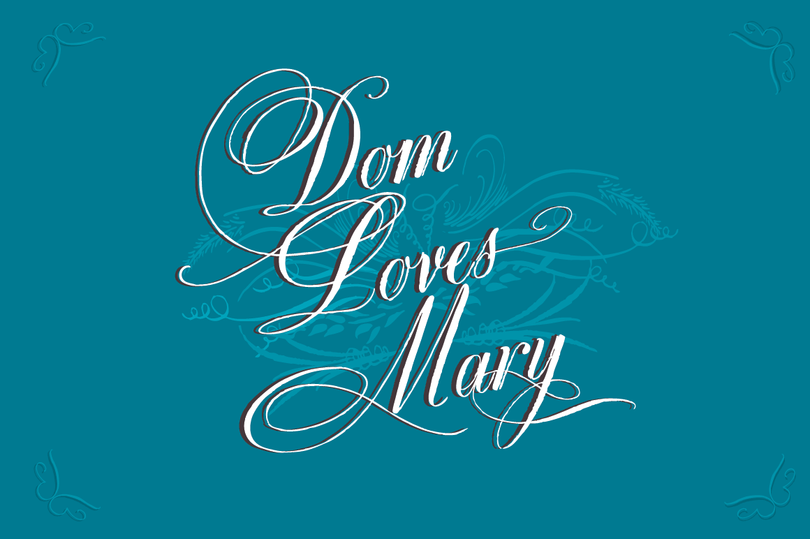 Elegant Dom Loves Mary Font Family - only $17!