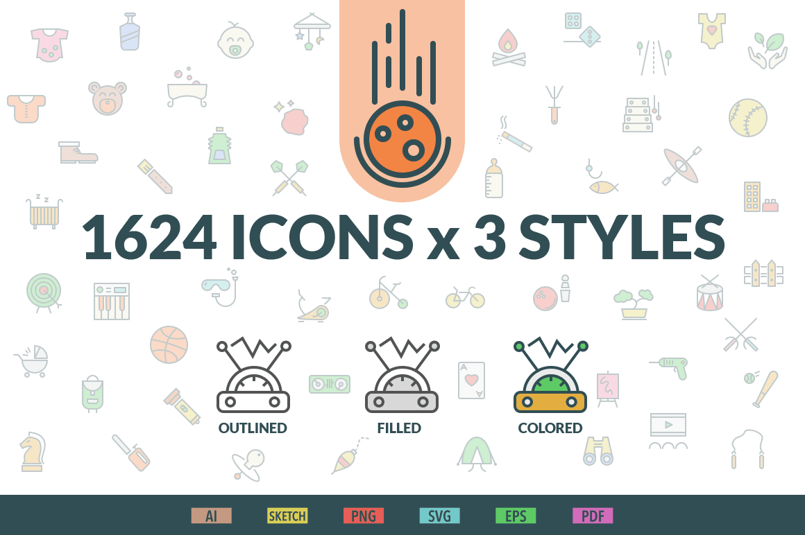 1624 Gorgeous Swifticons Icons (in 3 Styles) - only $29!
