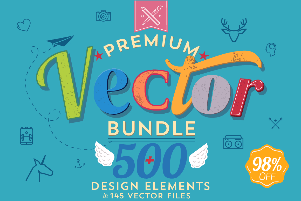 500+ Premium Quality Vectors from Noka Studio - only $17!