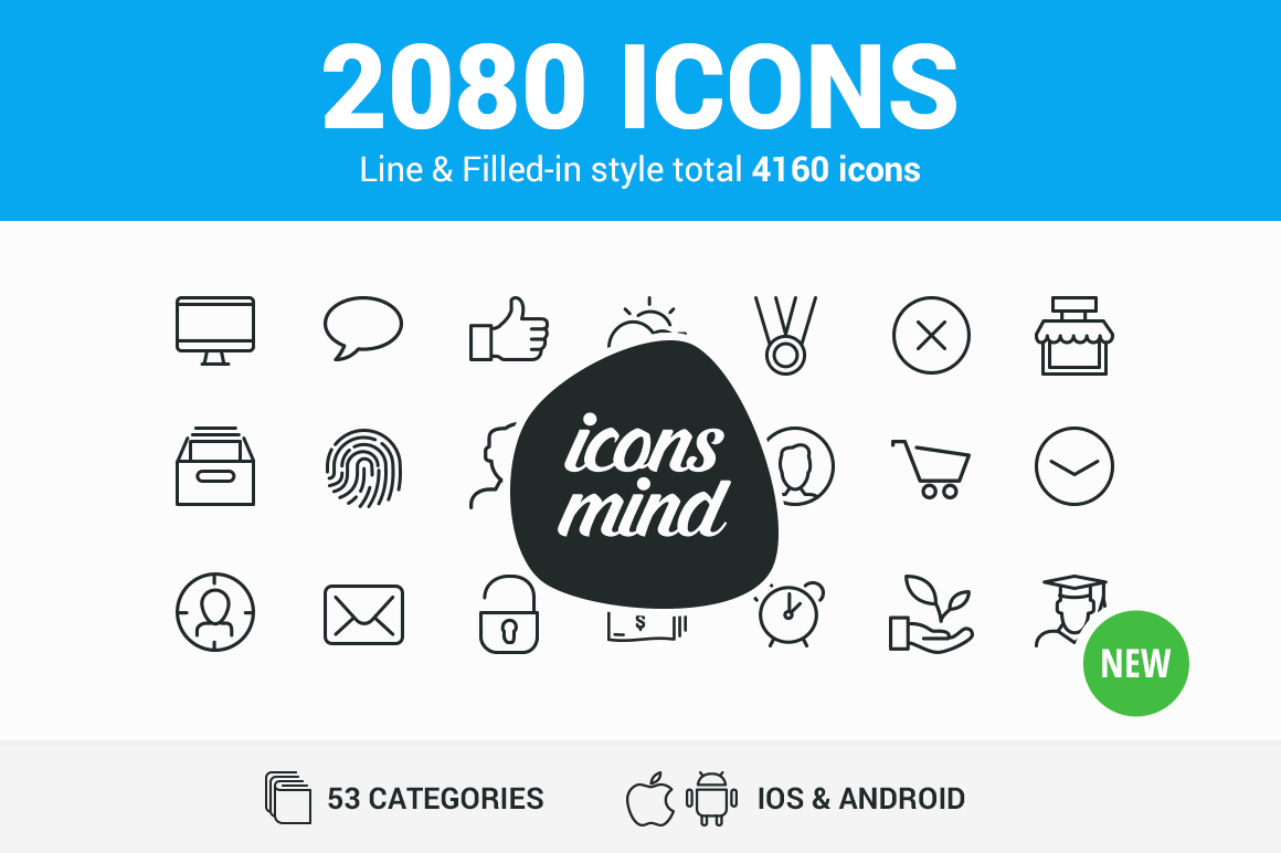 2000+ High-Quality Vector Icons (outline and filled)