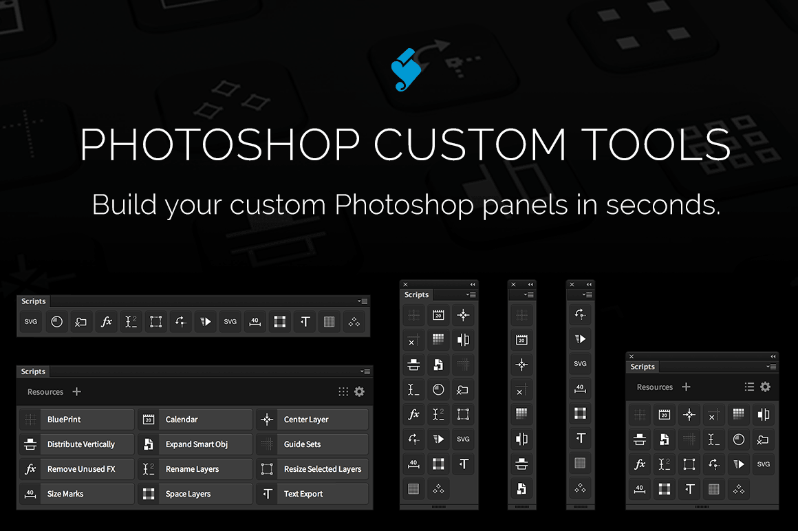 Photoshop Custom Tools: Build your own custom Photoshop panels - only $9!