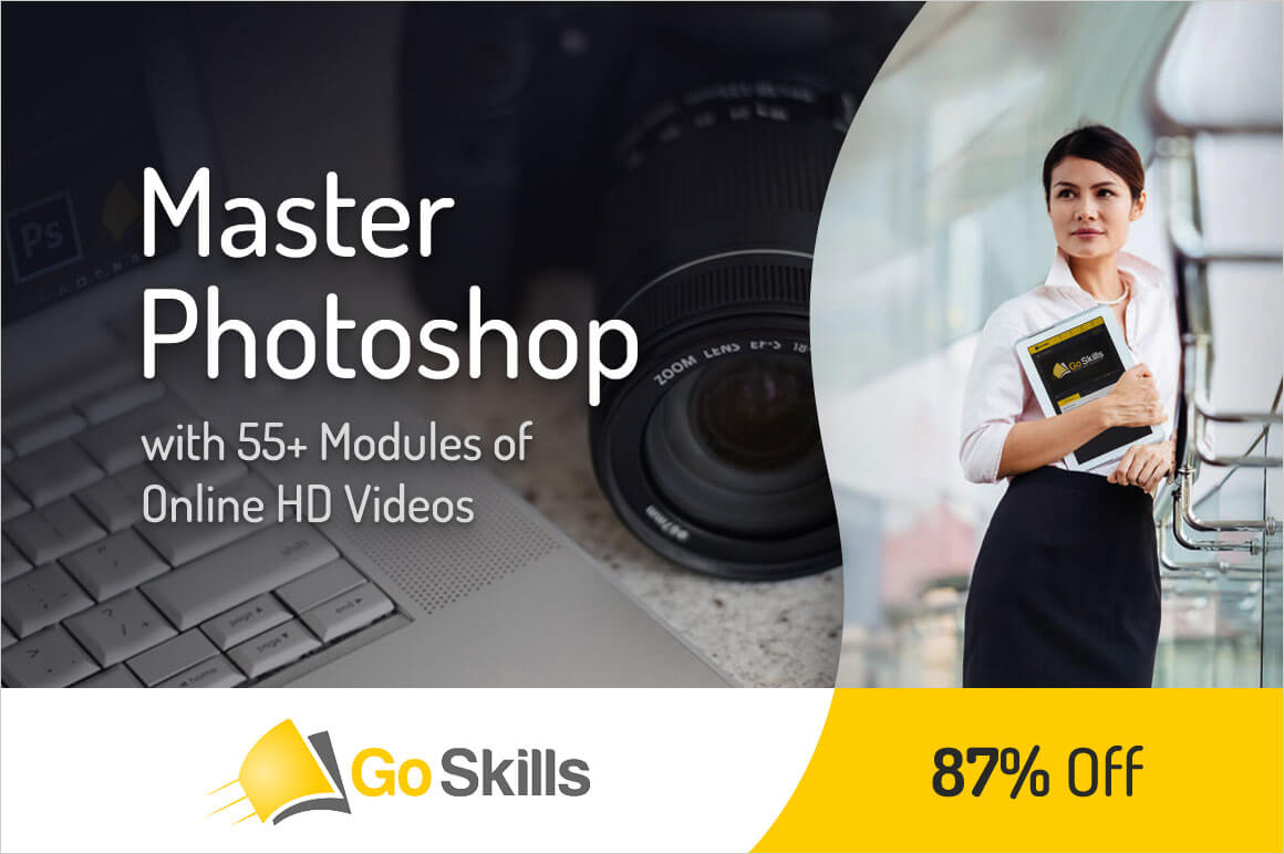 Master Photoshop with 55+ Modules of Online HD Videos from GoSkills - only $39!