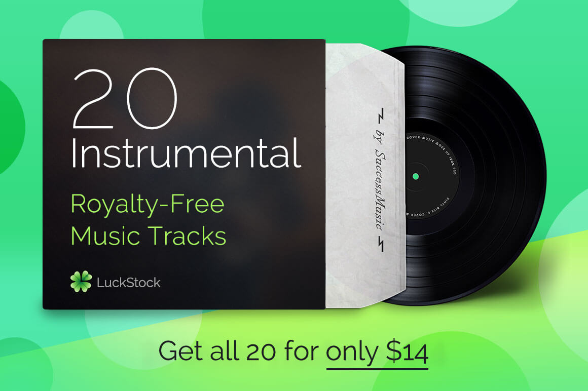 20 Inspirational Instrumental Music Tracks from LuckStock - only $14!