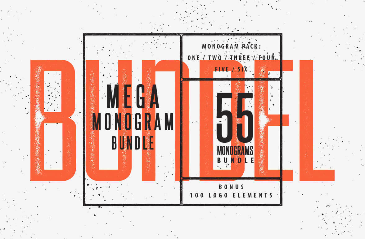 55 Logo Templates with Monogram Incorporated - only $12!