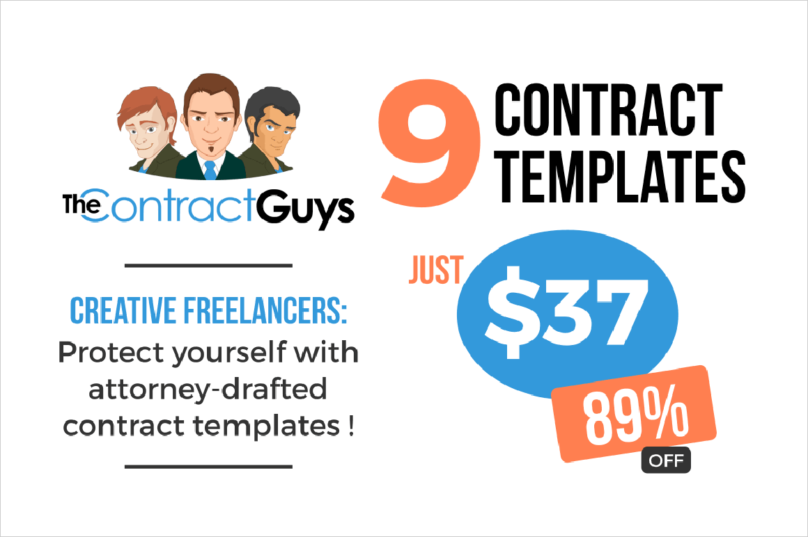 9 Contract Templates for Creative Freelancers - only $37!