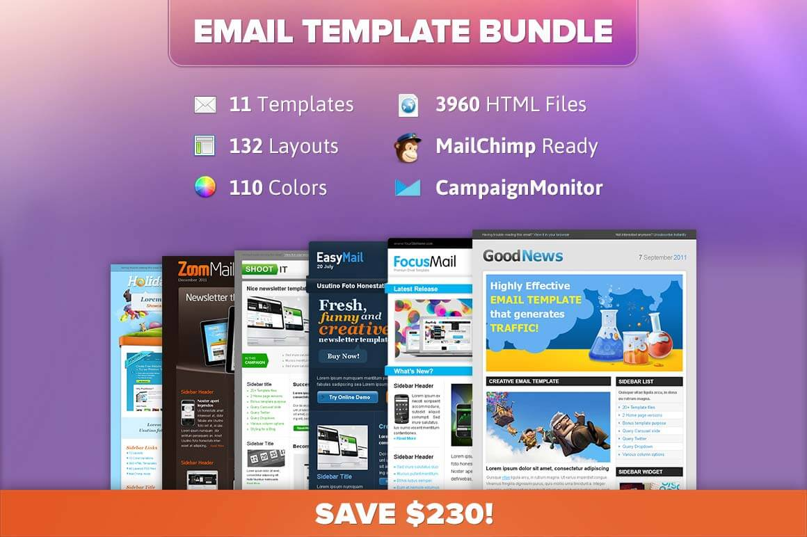 11 Professional Email Templates from ChocoTemplates - only $12!