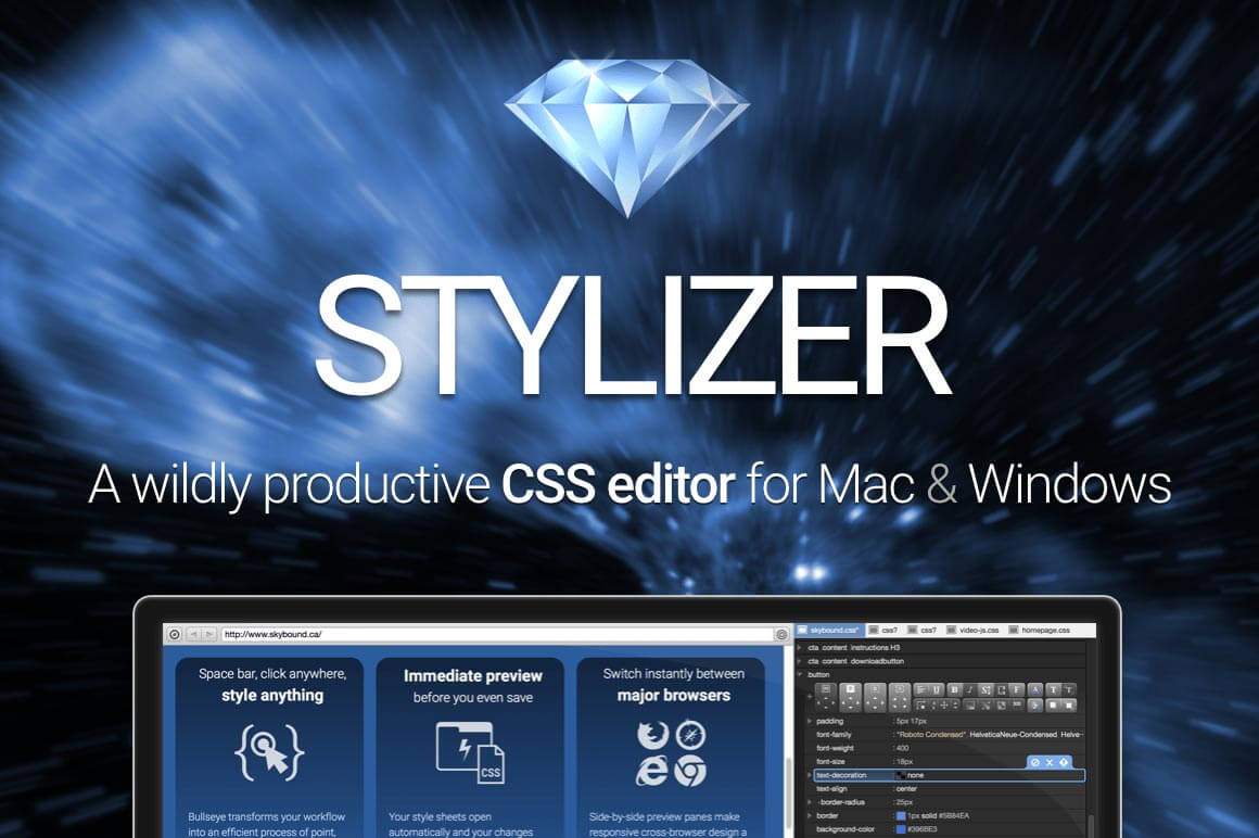 Stylizer: Real-time CSS editing app for Mac and Windows - only $47!