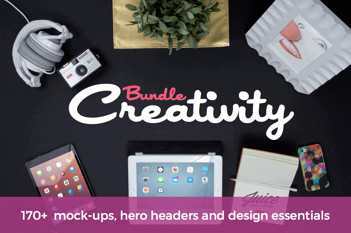 The Creativity Bundle - 170+ Mock-Ups, Headers and Design Essentials - $27!