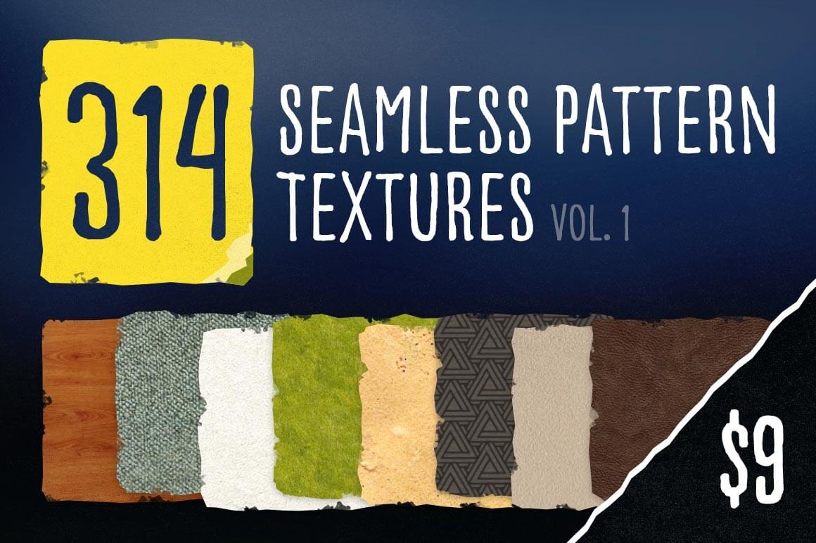 300+ Seamless Photoshop Patterns - only $9!