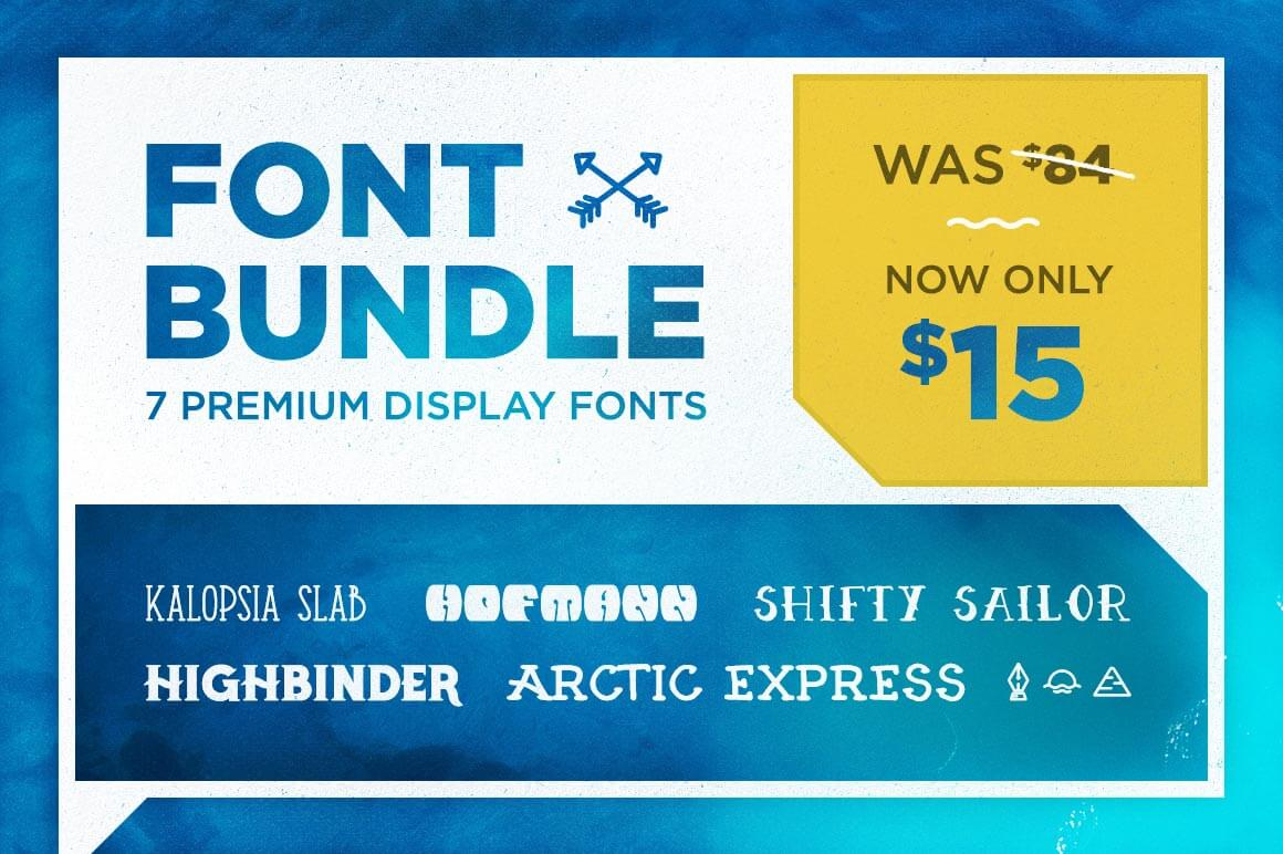 Collection of 7 Creative, Display Fonts with Extras from Sean Co. - only $15!