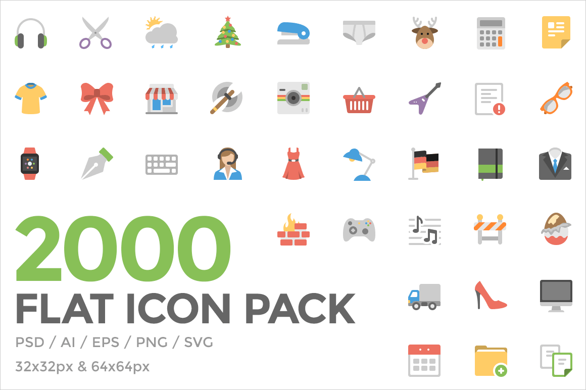 2,000 Delicious and Colorful Flat Icons from Squid Ink - only $35!