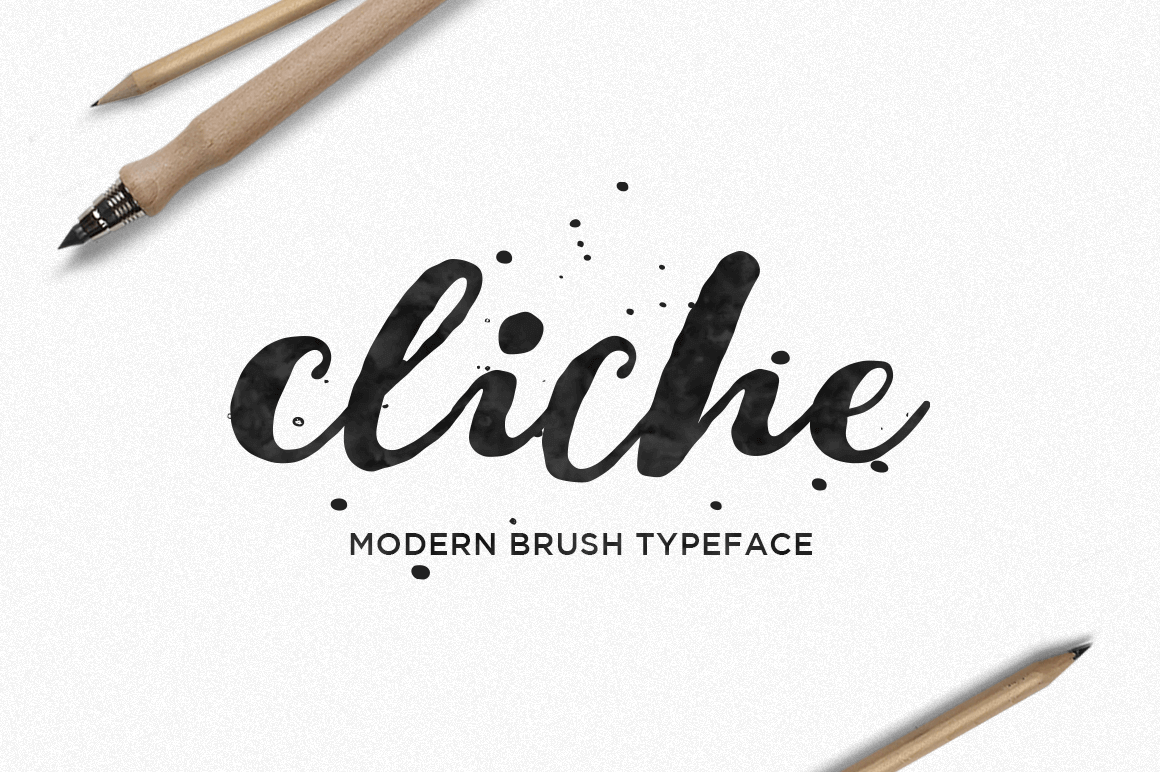 Cliche: A Beautiful Hand-Lettered Brush Font - only $7!