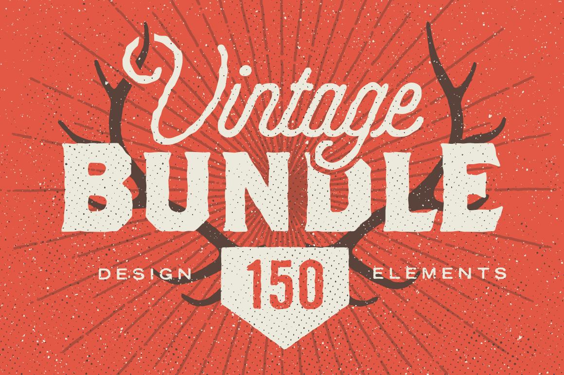 Vintage Bundle: 150+ Design Elements - only $12!