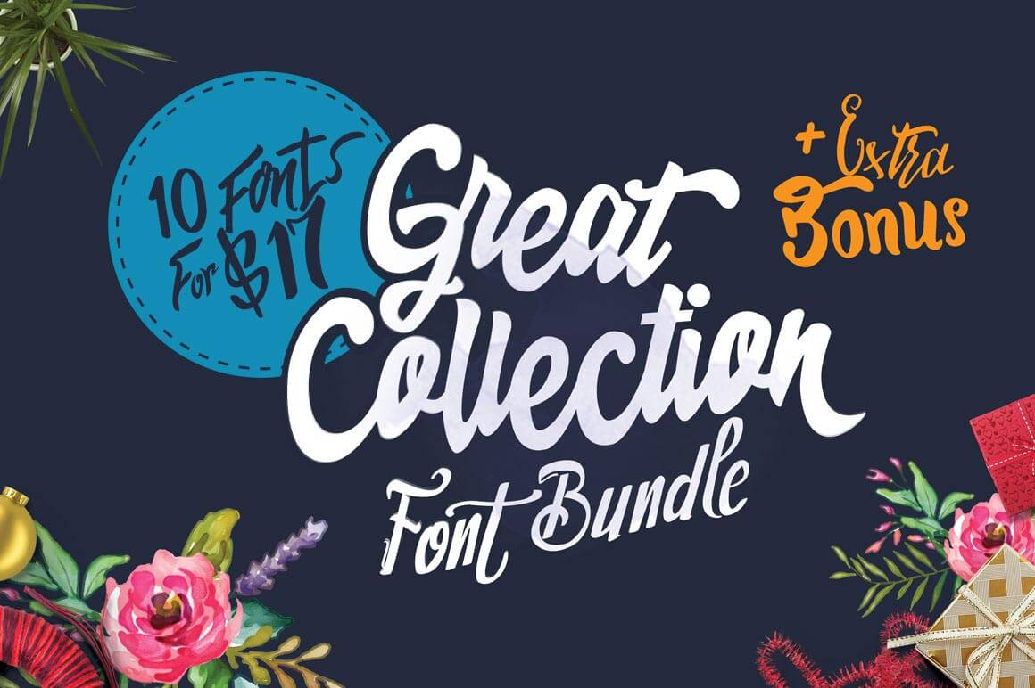 Collection of 10 Unique Fonts From Dirtyline - only $17!