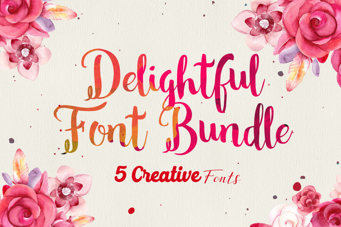 The Delightful Font Bundle: 5 Creative Typefaces - only $12!