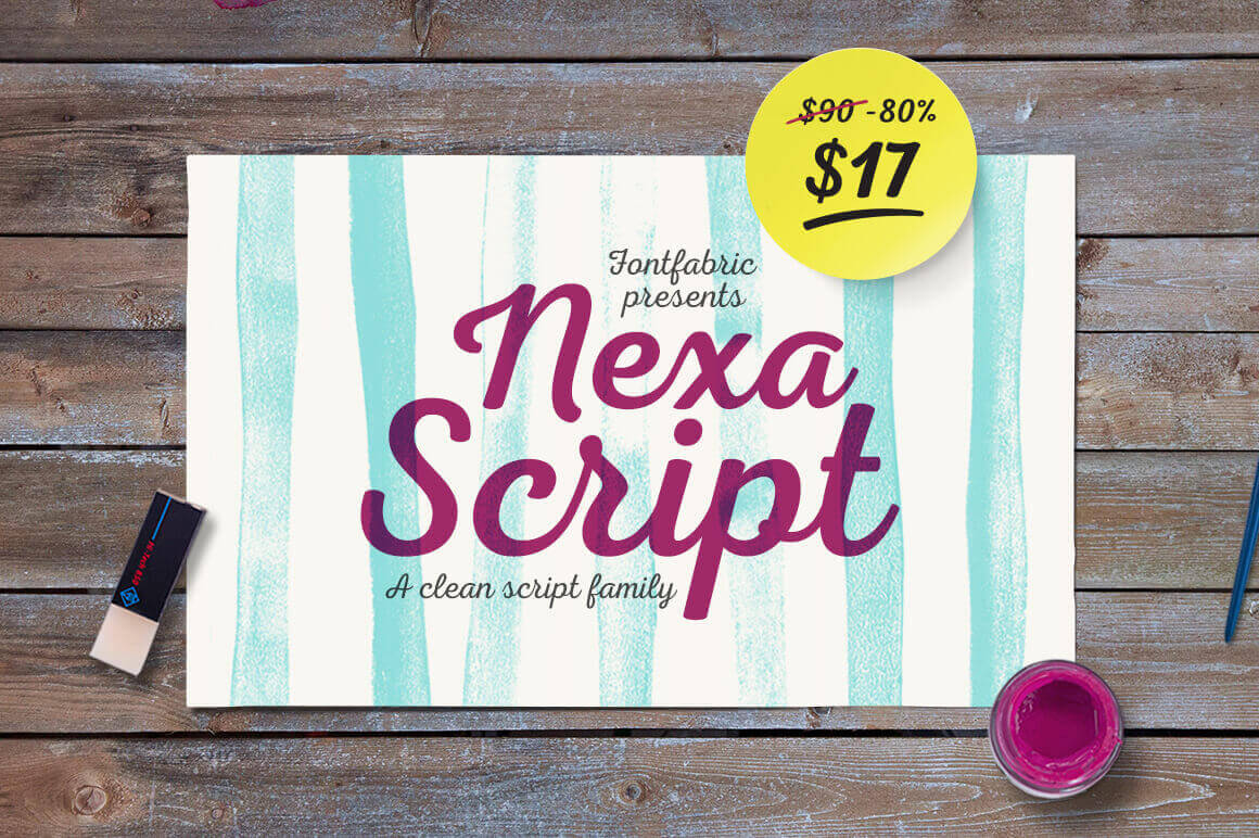 Nexa Script by FontFabric: Includes 6 Font Styles - only $17!