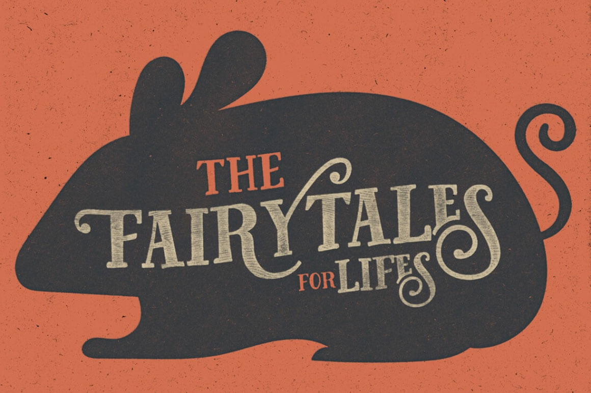 Tell Your Story with the Fairy Tales Font + Bonus Vector Animal Set - only $6!