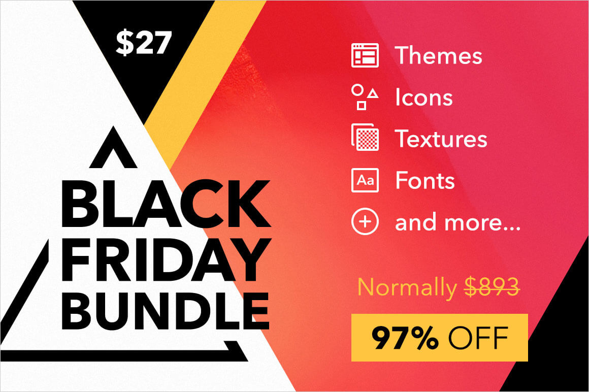 LAST DAY! Black Friday Bundle: 10 Creative Products for your Designer Toolkit - only $27!