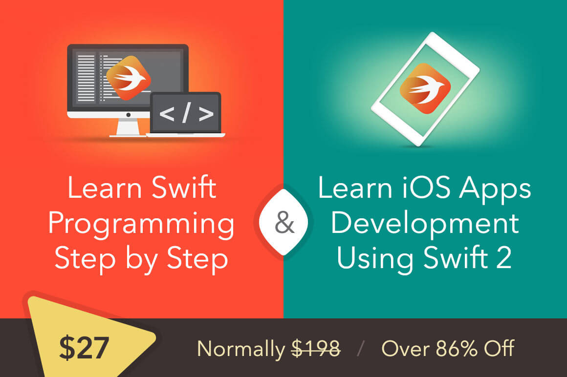 Online Course: 90+ Video Lectures that Teach you Swift Programming - only $27!