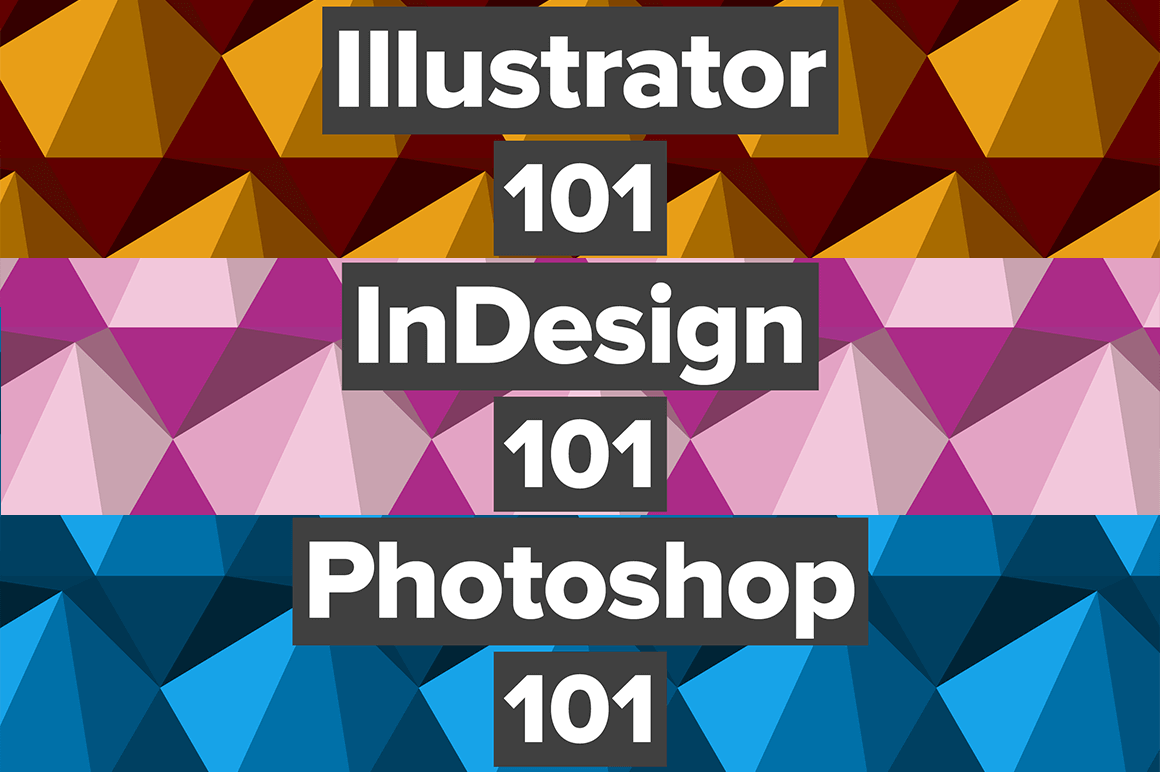 InDesign, Illustrator and Photoshop Hands-On Video Tutorial Bundle - only $39!