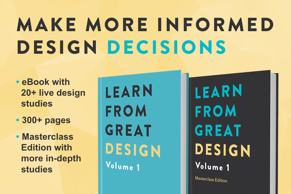 Improve Your Eye for Design with Learn from Great Design Volume 1 eBook - only $14!