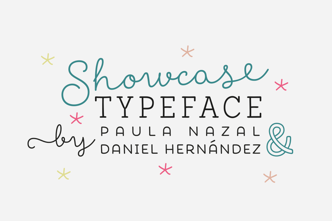 Showcase Font Family (7 Friendly Fonts + 1 Ornament Set) - only $15!