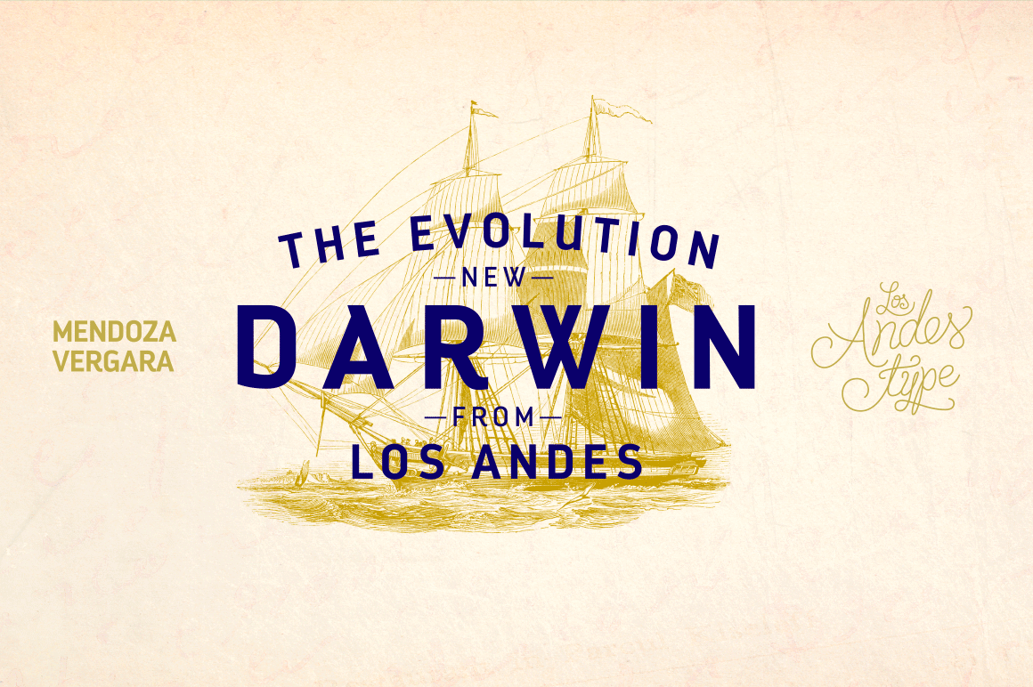 Evolve Your Artwork with the Darwin Font Family - 20 fonts for only $15!