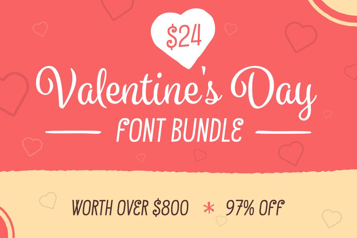 Fall in Love with the Valentine Font Bundle: 9 Lovely Typefaces - only $24!