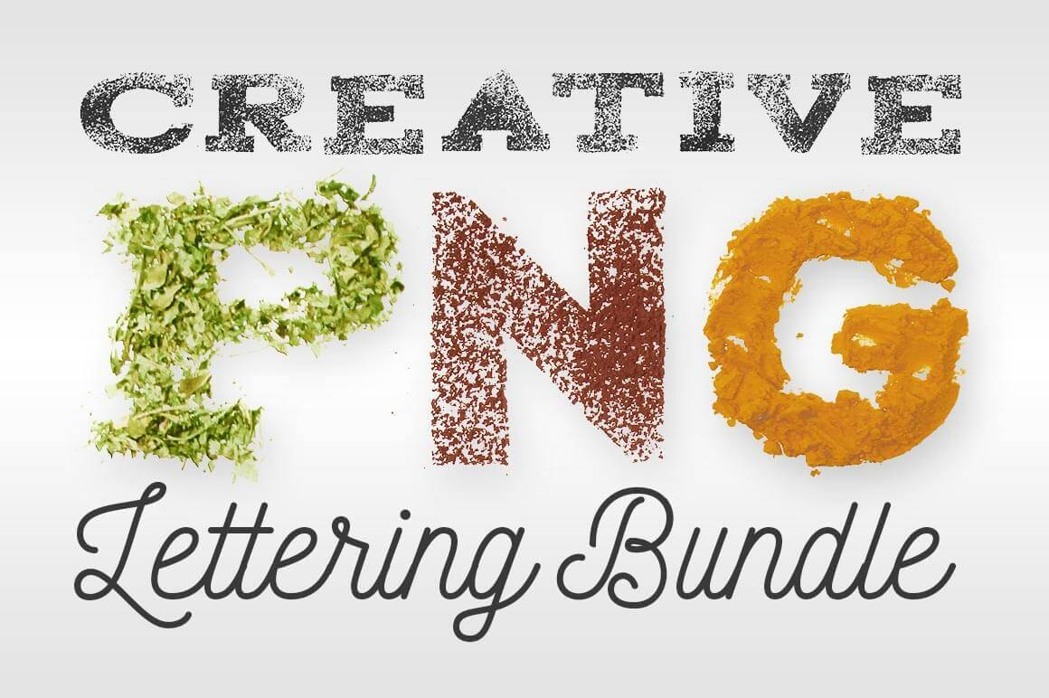 Creative PNG Lettering Bundle - only $12!