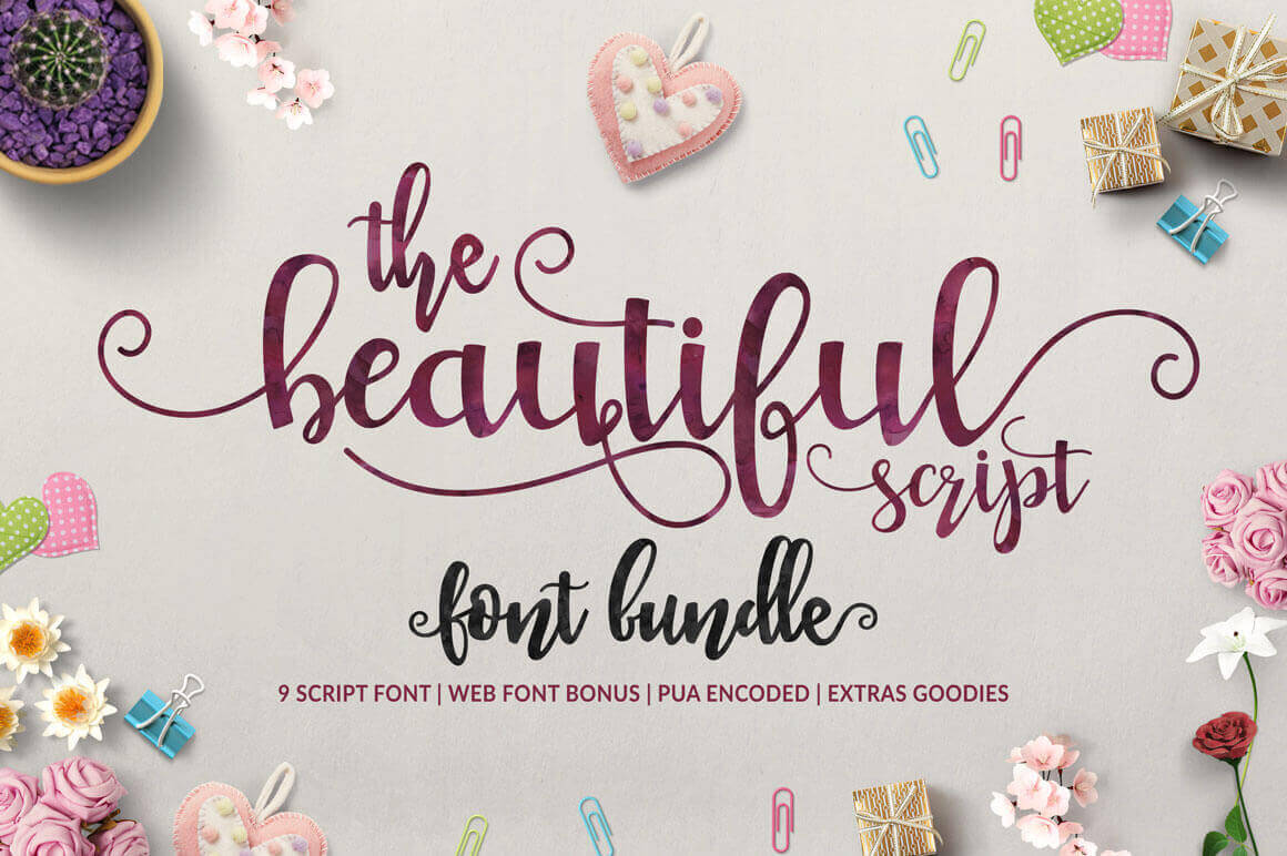 9 Beautiful Handwritten Modern Script Fonts - only $17!