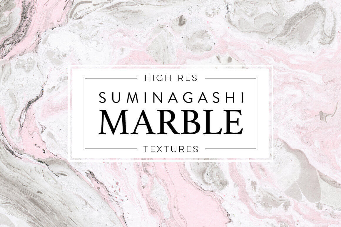 65 Gorgeous Marble Paper Textures with Extended License - only $9!