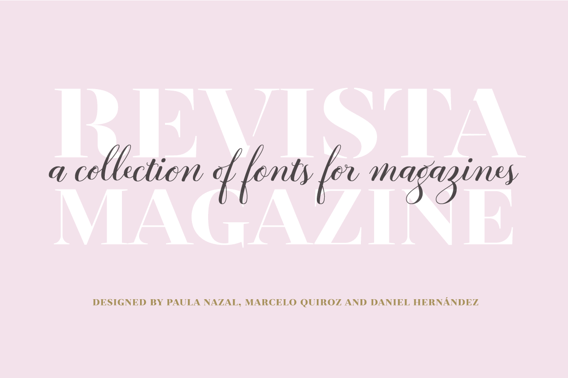 Fashion Forward with the Revista Font Family of 26 fonts - only $15!