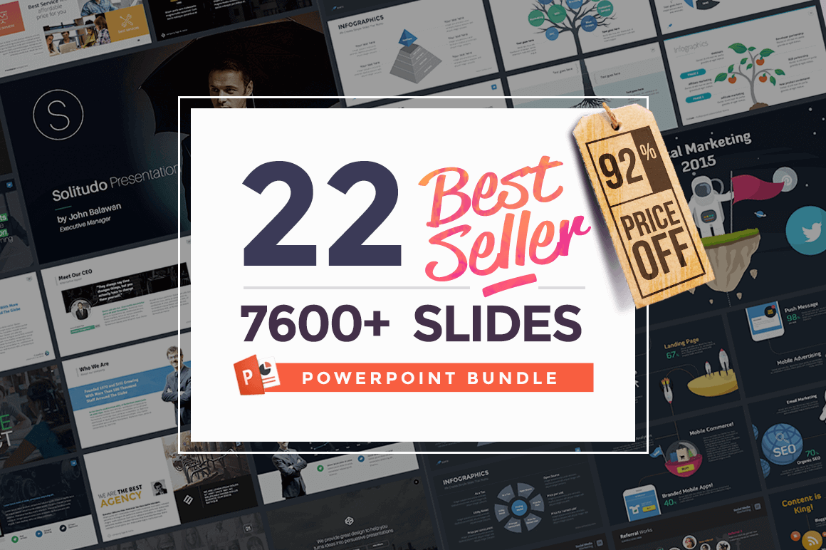 22 Powerpoint Templates (7600+ slides) from Slidehack - only $27!
