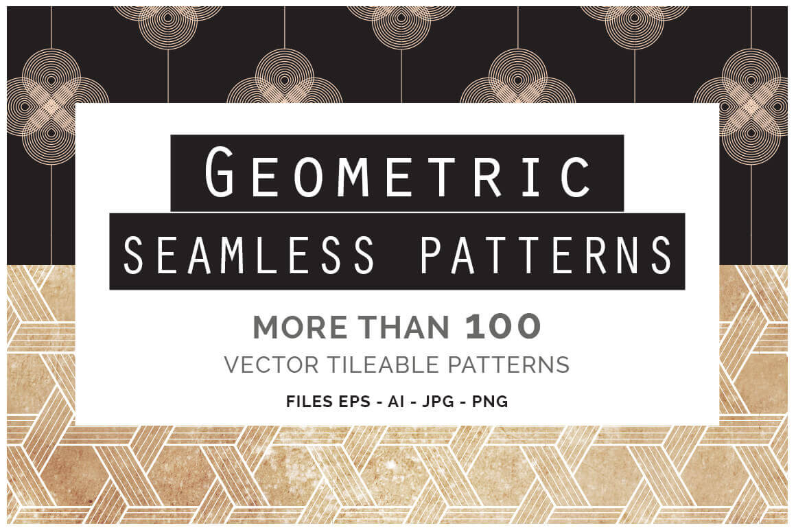 100+ Geometric Patterns from You and I Graphics - only $24!