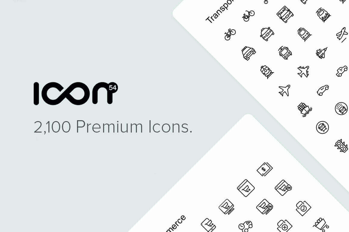 The Icon54 Collection of 2,100 Perfect Icons in 49 Unique Categories - $19!