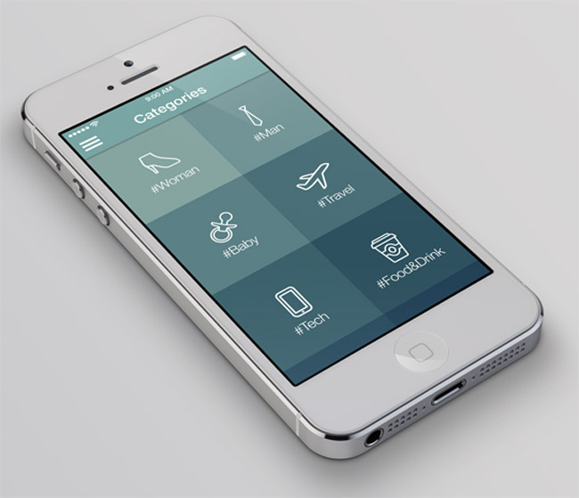 6 professional iOS7 app design templates: 95% off!
