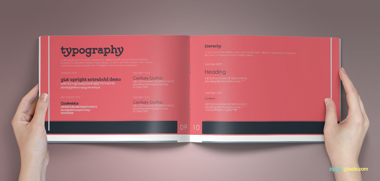 Typography Book 10 Brand Book 8 Typography 1